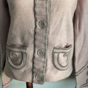 Marc Jacobs Sweaters - MARC JACOBS WOOL MAUVE MILITARY STYLE CARDIGAN M